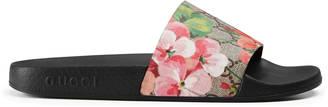 GG Blooms Supreme slide sandal $290 thestylecure.com