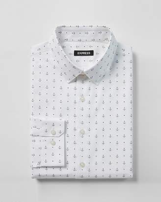 Express Slim Fit Anchor Print Dress Shirt