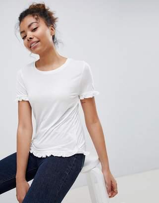 Brave Soul Lima Frill Hem T Shirt