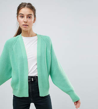Asos Tall DESIGN Tall eco chunky cardigan with volume sleeve