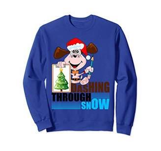 Stunning Dashing Through the Snow Design Sweatshirt