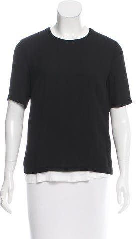 A.L.C. A.L.C. Short-Sleeve Overlay Top w/ Tags