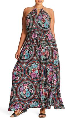 City Chic Folklore Maxi Dress