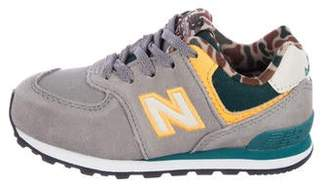 New Balance Girls' Suede Low-Top Sneakers