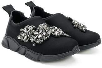 Mi Mi Sol TEEN jewel embellished sneakers