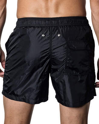 Jared Lang Solid Swim Shorts, Black