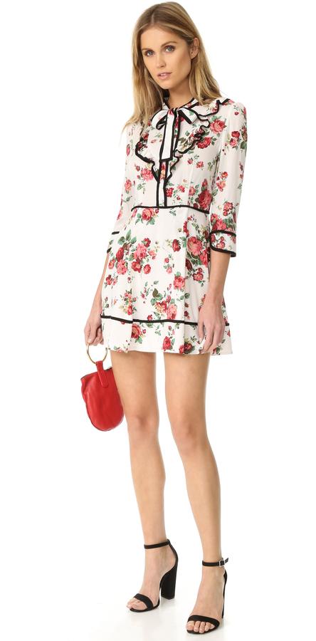 re:named Floral Neck Tie Dress 3