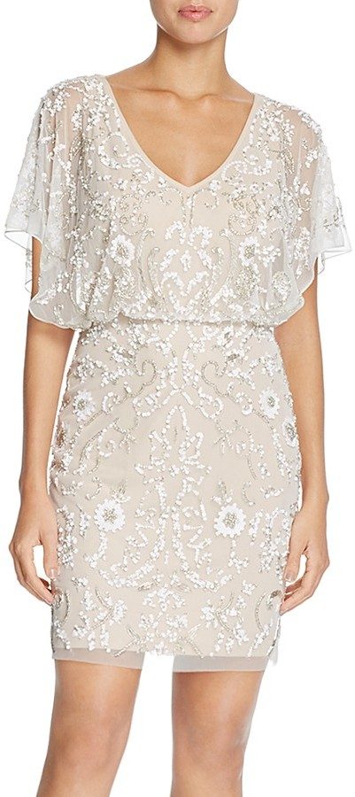 Aidan MattoxAidan Mattox Embellished Mesh Dress