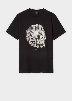 Paul Smith Men's Black 'Monkey Skull' Print Organic-Cotton T-Shirt
