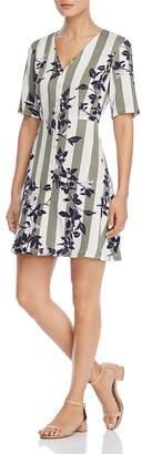 Vero Moda Vilja Striped-and-Floral Dress