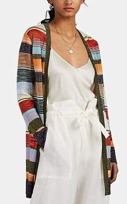 Missoni Women's Striped Metallic Knit Cardigan