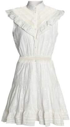 Zimmermann Crochet-Trimmed Embroidered Cotton-Gauze Mini Dress
