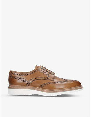Loake Cobra leather wedge Derby shoes