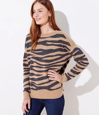 LOFT Tiger Striped Sweater