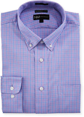 Neiman Marcus Classic-Fit Check Dress Shirt