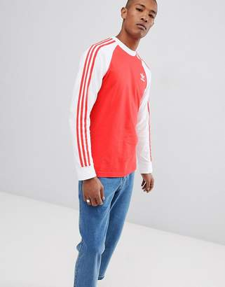 adidas Long Sleeve Top In Red DH5796