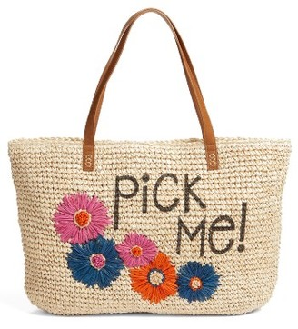 Nordstrom Pick Me Tote - Brown $49 thestylecure.com