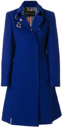 Versace eyelet coat