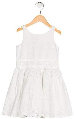 Ralph Lauren Girls' Embroidered A-Line Dress