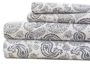 Blissful Bedding Premium Ultra Soft Four-Piece Coarse Paisley Pattern Bed Sheet Set