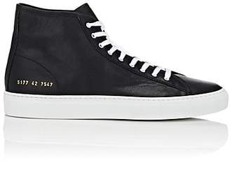 Common Projects Men's Tournament Leather Sneakers - Black