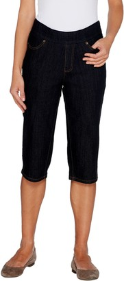 Denim & Co. Petite Perfect Denim Smooth Waist Pedal Pusher Jeans