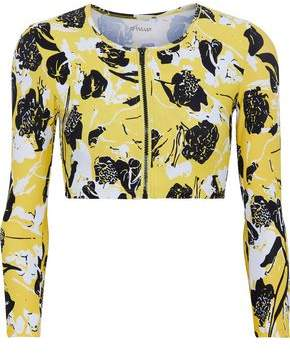Derek Lam 10 Crosby Printed Piqué Bikini Top