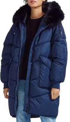Maje Gorange Real Asiatic Raccoon Fur-Trimmed Hood Puffer Coat