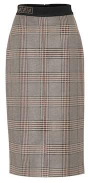 Fendi Checked wool skirt