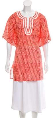 Tory Burch Patterned Drawstring Top