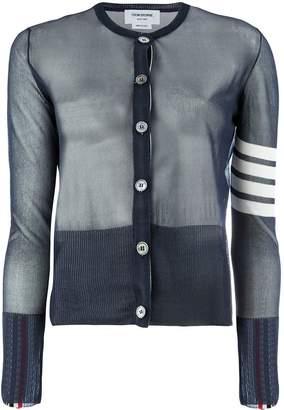 Thom Browne 4-bar stripe sheer cardigan