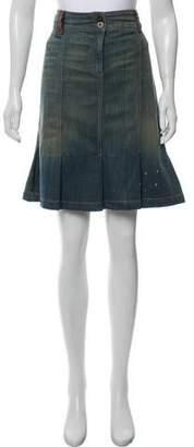 Dolce & Gabbana Denim Knee-Length Skirt