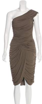 Michael Kors One-Shoulder Ruched Dress w/ Tags