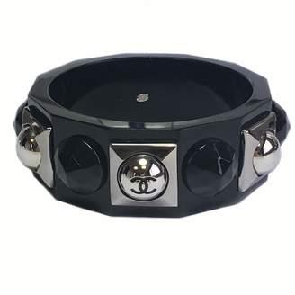 Chanel Black Plastic Bracelets
