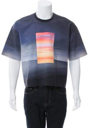 Calvin Klein Collection Night Sky Graphic Print T-Shirt