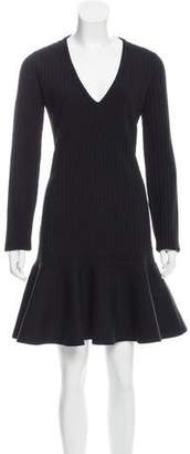 Saint Laurent Drop-Waist Wool Dress