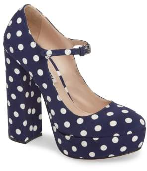 Miu Miu Platform Mary Jane Pump