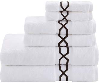 Madison Park Copula Embroidered 6-piece Cotton Towel Set