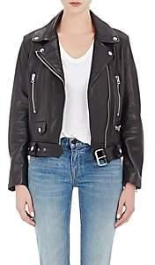 Acne Studios Women's Lambskin Moto Jacket - Black