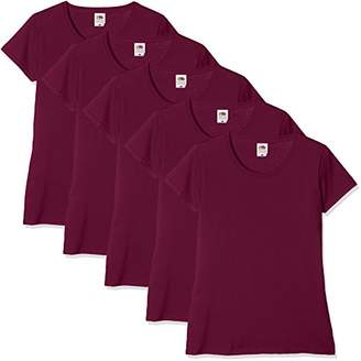 Fruit of the Loom Women Valueweight 5 T-Shirt,(Manufacturer Size:2XL/) Pack of 5