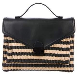 Loeffler Randall Leather-Trimmed Canvas Bag