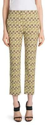 Prada Lana Wool Printed Ankle Pants
