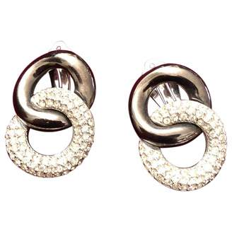 Givenchy Vintage Silver Metal Earrings