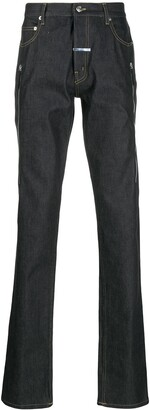 Zilver Printed Denim Trouser with Front Zippers in BCI Cotton