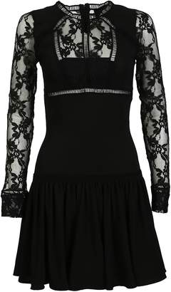 Philipp Plein Lace Panelled Mini Dress