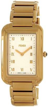 Fendi Men's F701414000 Classico Rect Analog Display Swiss Quartz Gold Watch