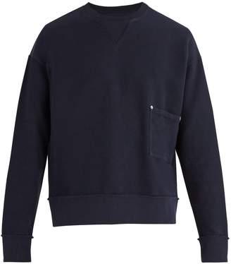 Maison Margiela Crew-neck cotton-piqué sweatshirt