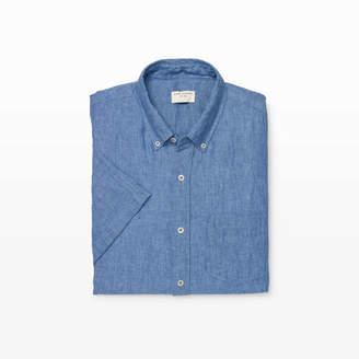 Club Monaco Slim Linen Short-Sleeve Shirt