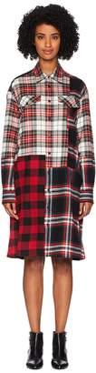 McQ Patched Tartan Shoulder Dress Women's Dress