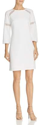 Adrianna Papell Lace-Inset Crepe Dress